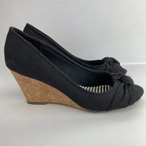 American Eagle Cork Wedge Heels